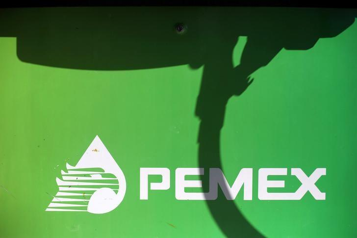 The logo of Mexican petroleum company Pemex is seen on a tank gas at a gas station in Mexico City, Mexico, January 2, 2017. REUTERS/Edgard Garrido