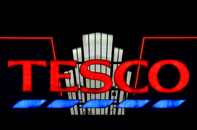 File photo of a Tesco supermarket seen at dusk in an 'art deco' style building at Perivale in west London, Britain, January 6, 2015. REUTERS/Toby Melville/Files
