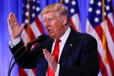 Presidente eleito dos EUA, Donald Trump, em Nova York. 11/01/2017 REUTERS/Shannon Stapleton