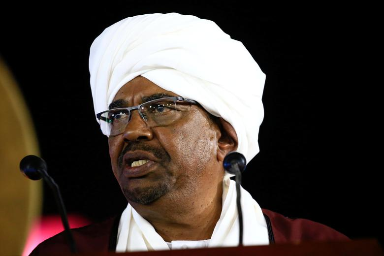 Sudan's President Omar Al Bashir addresses the nation during the country's 61st independence day, at the presidential palace in Khartoum, Sudan December 31, 2016. REUTERS/Mohamed Nureldin Abdallah