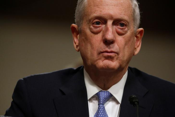 Retired U.S. Marine Corps General James Mattis testifies before a Senate Armed Services Committee hearing on his nomination to serve as defense secretary in Washington, U.S. January 12, 2017.  REUTERS/Jonathan Ernst