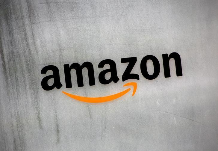 Amazon.com's logo is seen at Amazon Japan's office building in Tokyo, Japan, August 8, 2016. REUTERS/Kim Kyung-Hoon/File Photo