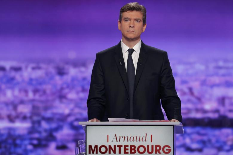 French politician Arnaud Montebourg attends the first prime-time televised debate for the French left's presidential primaries in La Plaine Saint-Denis, near Paris, France, January 12, 2017. REUTERS/Philippe Wojazer