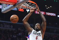 Dec 4, 2016; Los Angeles, CA, USA;  Los Angeles Clippers center DeAndre Jordan (6) in the first quarter of the game against the Indiana Pacers at Staples Center. Mandatory Credit: Jayne Kamin-Oncea-USA TODAY Sports