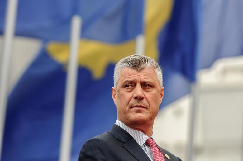 Kosovo's new President Hashim Thaci looks on during the Presidential inauguration ceremony in Pristina, Kosovo April 8, 2016. REUTERS/Armend Nimani/Pool