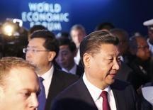 Presidente da China, Xi Jinping, no Fórum Econômico Mundial, em Davos.   17/01/2017   REUTERS/Ruben Sprich