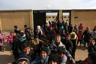 Back to school at former Islamic State prison