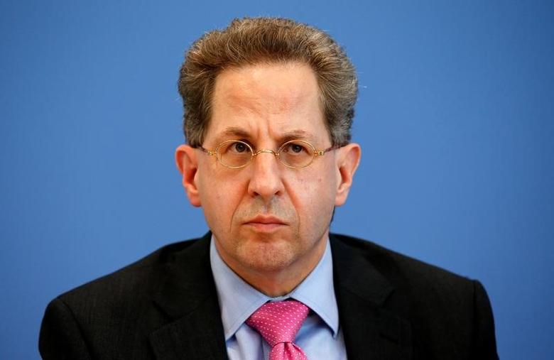 Hans-Georg Maassen, Germany's head of the German Federal Office for the Protection of the Constitution (Bundesamt fuer Verfassungsschutz) addresses a news conference to introduce the agency's 2015 report on threats to the constitution in Berlin, Germany, June 28, 2016.    REUTERS/Fabrizio Bensch - RTX2IODR