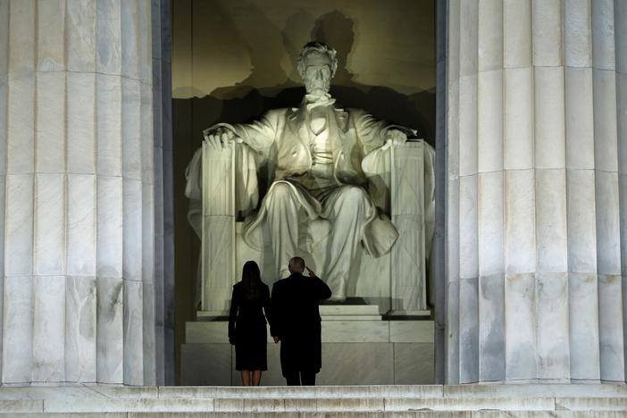 Trump Before Lincoln Memorial