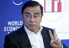 Carlos Ghosn, CEO of Renault-Nissan Alliance attends the World Economic Forum (WEF) annual meeting in Davos, Switzerland January 20, 2017.  REUTERS/Ruben Sprich