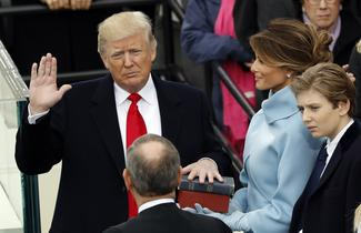 The inauguration of Donald Trump