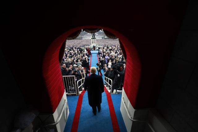 Donald J. Trump arrives at the inauguration ceremonies swearing him in as the 45th president of the United States at the United States Capitol in Washington, D.C., January 20, 2017. REUTERS/Doug Mills/Pool