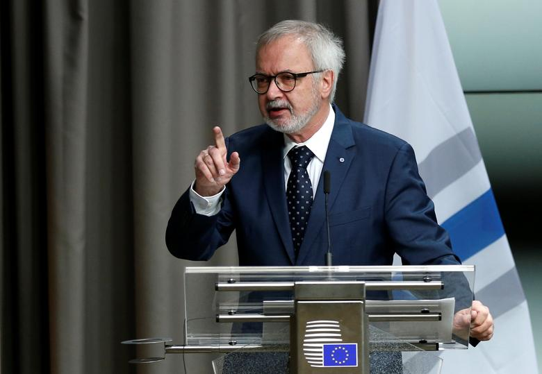 European Investment Bank (EIB) President Werner Hoyer presents the EIB Group annual results at a news conference in Brussels, Belgium, January 24, 2017.   REUTERS/Francois Lenoir