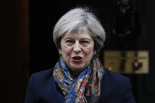 Britain's Prime Minister Theresa May leaves Number 10 Downing Street in London, Britain January 24, 2017. REUTERS/Stefan Wermuth