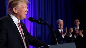 O presidente dos Estados Unidos Donald Trump durante encontro de parlamentares republicanos na Philadelphia, nos Estados Unidos 26/01/2017 REUTERS/Jonathan Ernst
