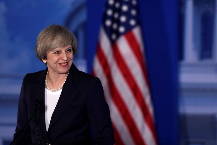 Britain's Prime Minister Theresa May speaks during the 2017 'Congress of Tomorrow' Joint Republican Issues Conference in Philadelphia, Pennsylvania, U.S. January 26, 2017. REUTERS/Mark Makela