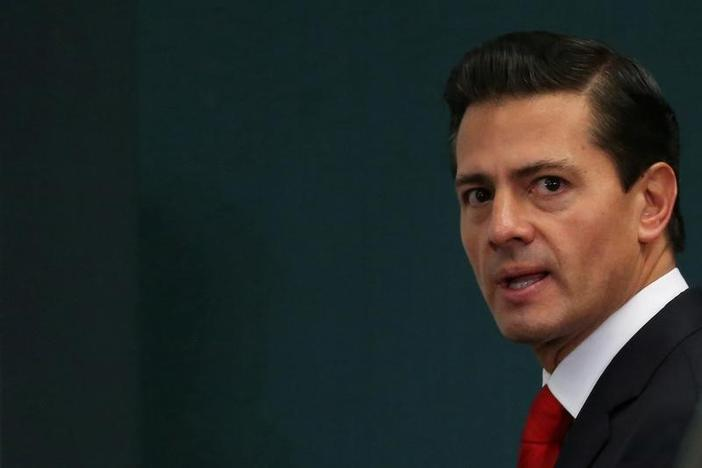 Mexico's President Enrique Pena Nieto is seen during the delivery of a message about foreign affairs at Los Pinos presidential residence in Mexico City, Mexico, January 23, 2017. REUTERS/Edgard Garrido