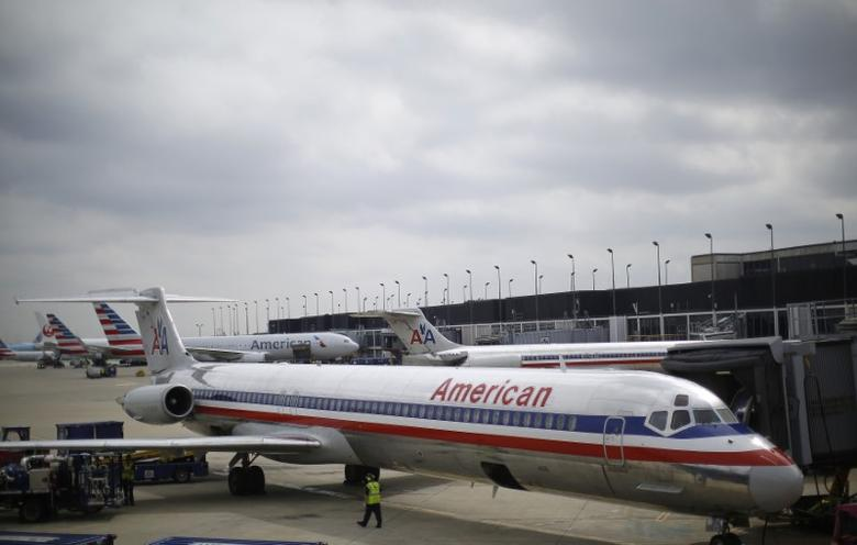An American Airlines airplane in a file photo.  REUTERS/Jim Young