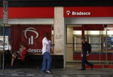 Agência do Bradesco no centro do Rio de Janeiro.    20/08/2014     REUTERS/Pilar Olivares