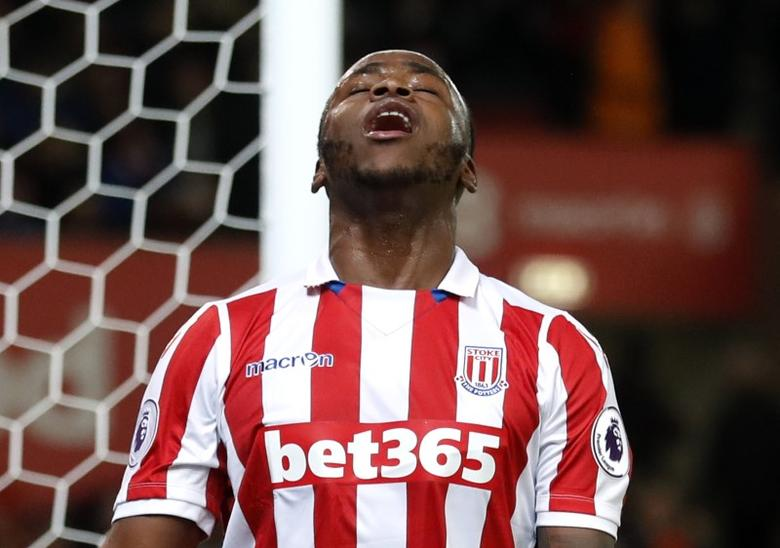 Britain Soccer Football - Stoke City v Everton - Premier League - bet365 Stadium - 1/2/17 Stoke City's Saido Berahino looks dejected Action Images via Reuters / Carl Recine Livepic