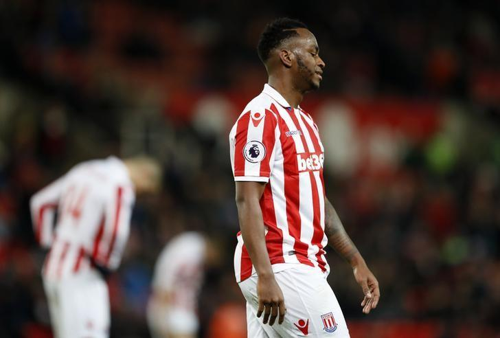 Britain Soccer Football - Stoke City v Everton - Premier League - bet365 Stadium - 1/2/17 Stoke City's Saido Berahino after the match  Action Images via Reuters / Carl Recine Livepic