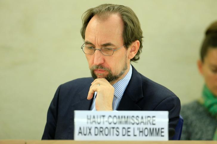 United Nations High Commissioner for Human Rights Zeid Ra'ad Al Hussein addresses the Human Rights Council 26th Special Session on the human rights situation in South Sudan, Geneva, Switzerland, December 14, 2016. REUTERS/Pierre Albouy/Files