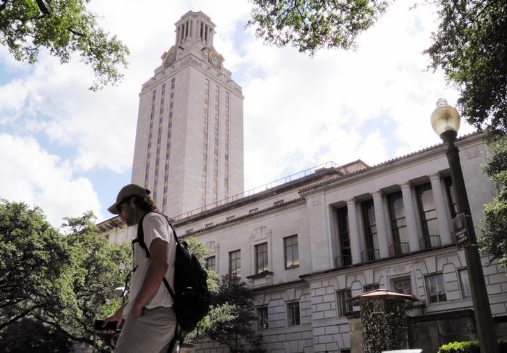 FILE PHOTO --  A student walks at the University of Texas campus in Austin, Texas, June 23, 2016.  REUTERS/Jon Herskovitz/File Photo