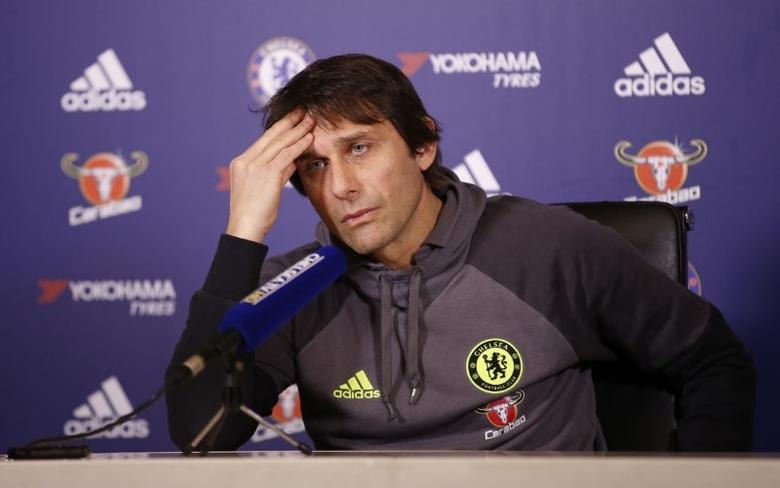 Britain Football Soccer - Chelsea - Antonio Conte Press Conference - Chelsea Training Ground - 3/2/17 Chelsea manager Antonio Conte during the press conference  Action Images via Reuters / Matthew Childs Livepic