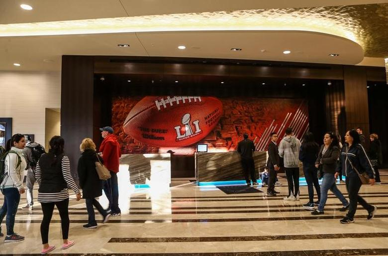 General view inside the lobby of the Marriott Marquis in downtown Houston prior to Super Bowl LI between the New England Patriots and the Atlanta Falcons in Houston, Texas, U.S. on January 28, 2017.  Mandatory Credit: Troy Taormina-USA TODAY Sports