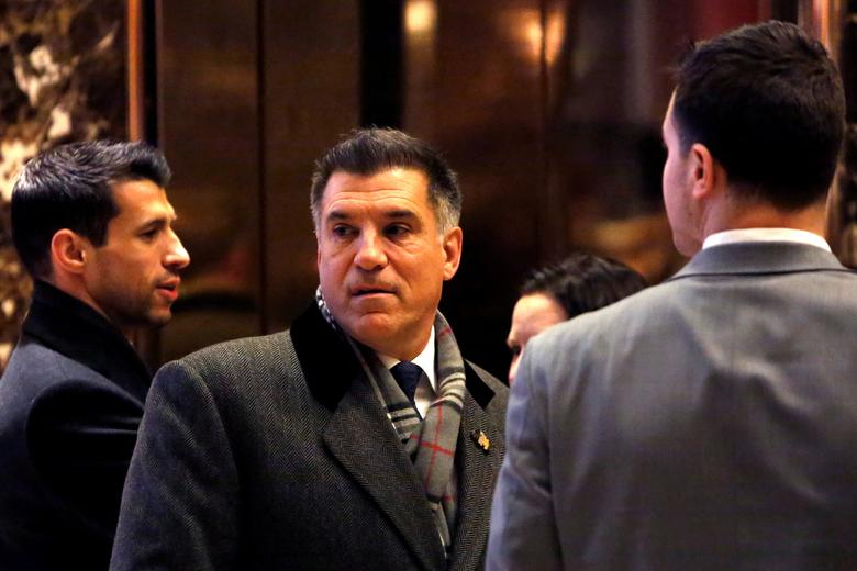 FILE PHOTO: Businessman Vincent Viola enters Trump Tower in Manhattan, New York City, U.S., December 16, 2016. REUTERS/Andrew Kelly/File Photo