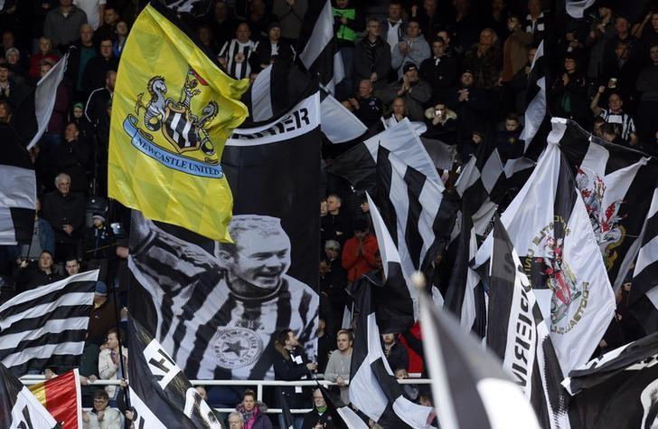 Britain Football Soccer - Newcastle United v Derby County - Sky Bet Championship - St James' Park - 4/2/17 Newcastle United fans with an Alan Shearer banner Mandatory Credit: Action Images / Ed Sykes Livepic