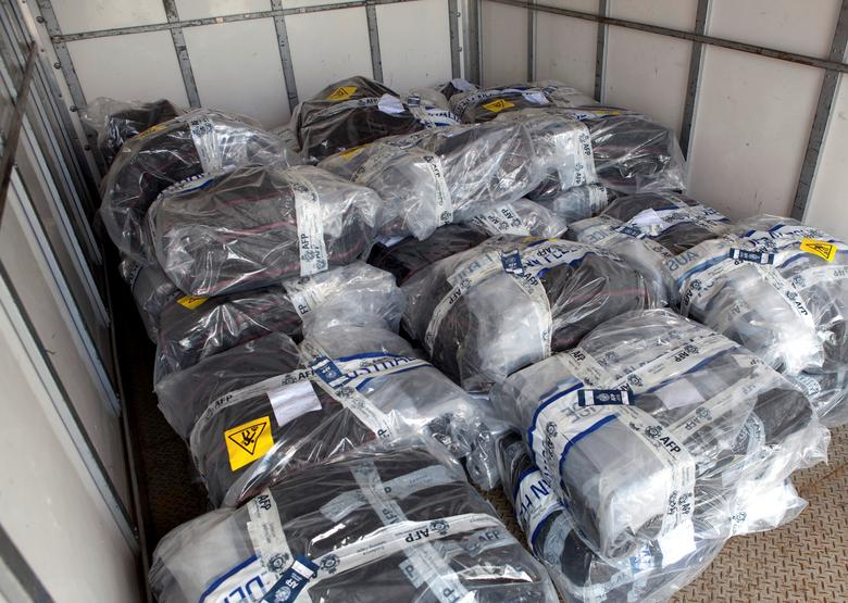 A supplied image shows the record haul of 1.4 tonnes of cocaine worth A$312 million ($239.5 million) seized by Australian law enforcement agencies from an Australia-bound yacht last week in this picture taken February 5, 2017. Picture taken February 5, 2017.      Australian Federal Police/Handout via REUTERS