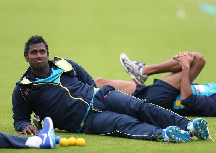 Britain Cricket - Sri Lanka Nets - The Ageas Bowl - 4/7/16Sri Lanka's Angelo Mathews during netsAction Images via Reuters / Matthew ChildsLivepic/Files