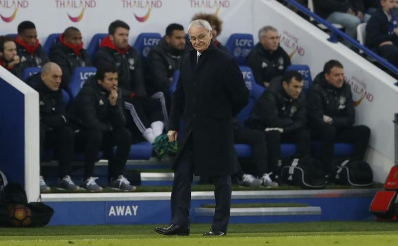 Britain Soccer Football - Leicester City v Manchester United - Premier League - King Power Stadium - 5/2/17 Leicester City manager Claudio Ranieri  Action Images via Reuters / Carl Recine Livepic