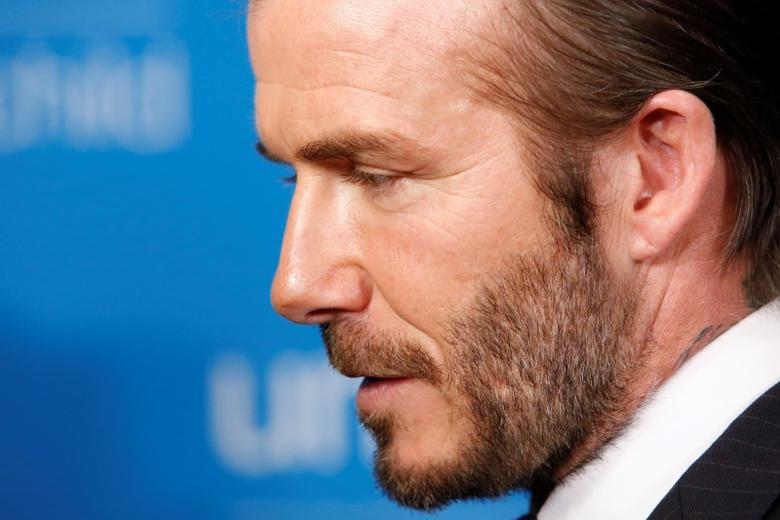 David Beckham attends the UNICEF 70th anniversary event at the United Nations Headquarters in Manhattan, New York City, U.S., December 12, 2016.  REUTERS/Andrew Kelly