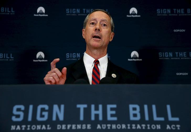 FILE PHOTO - U.S. Representative Mac Thornberry (R-TX), chairman of the House Armed Services Committee, addresses a news conference following a House Republican caucus meeting at the U.S. Capitol in Washington, October 21, 2015.  REUTERS/Jonathan Ernst