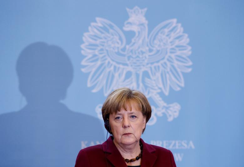 German Chancellor Angela Merkel speaks during a press conference in Warsaw, Poland February 7, 2017. REUTERS/Kacper Pempel