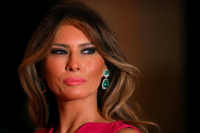 FILE PHOTO --  First Lady Melania Trump and U.S. President Donald Trump (not pictured) attend the 60th Annual Red Cross Gala at Mar-a-Lago club in Palm Beach, Florida, U.S., February 4, 2017. REUTERS/Carlos Barria/File Photo