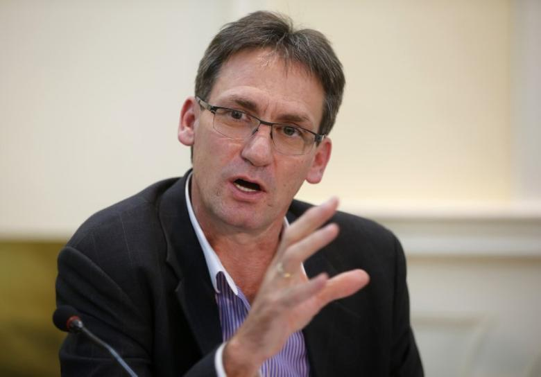 Chief Executive of Anglo American Platinum, Chris Griffith addresses a media conference in Johannesburg February 19, 2014. REUTERS/Mike Hutchings