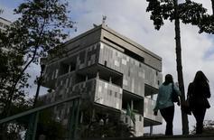 La casa matriz de Petrobras en Río de Janeiro,Brasil. 24 de agosto 2015. El principal índice de acciones de Brasil operaba a la baja el miércoles, lastrado principalmente por la baja de los títulos de la petrolera estatal Petrobras.  REUTERS/Sergio Moraes
