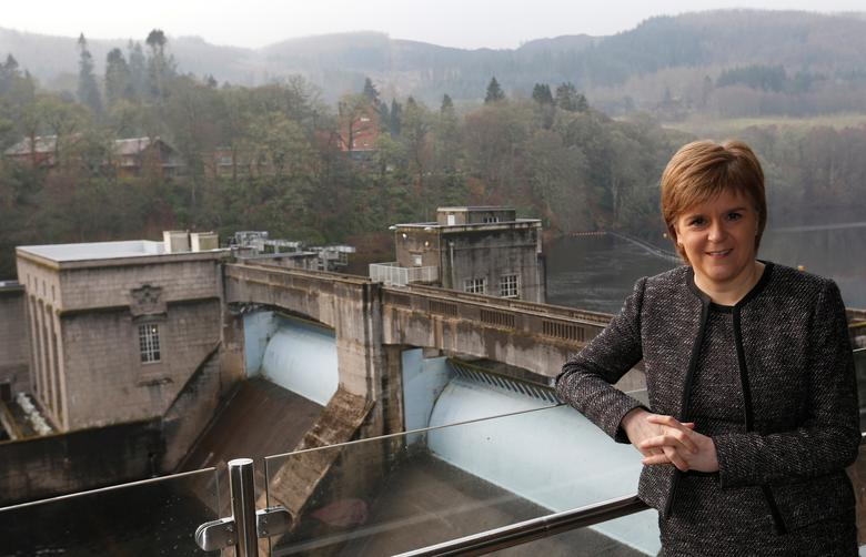 FILE PHOTO:Scotland's First Minister Nicola Sturgeon poses for a photograph at SSE's new Pitlochry Dam Visitor Centre, in Pitlochry, Scotland, Britain, February 6, 2017. REUTERS/Russell Cheyne/File Photo