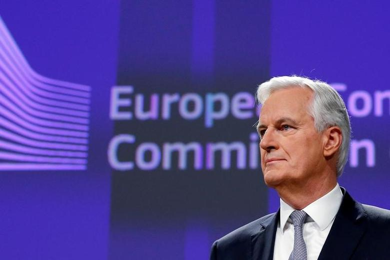 Michel Barnier, Chief Negotiator for the Preparation and Conduct of the Negotiations with the United Kingdom under Article 50 of the Treaty on European Union, holds a news conference at the EU Commission headquarters in Brussels, Belgium, December 6, 2016.  REUTERS/Francois Lenoir
