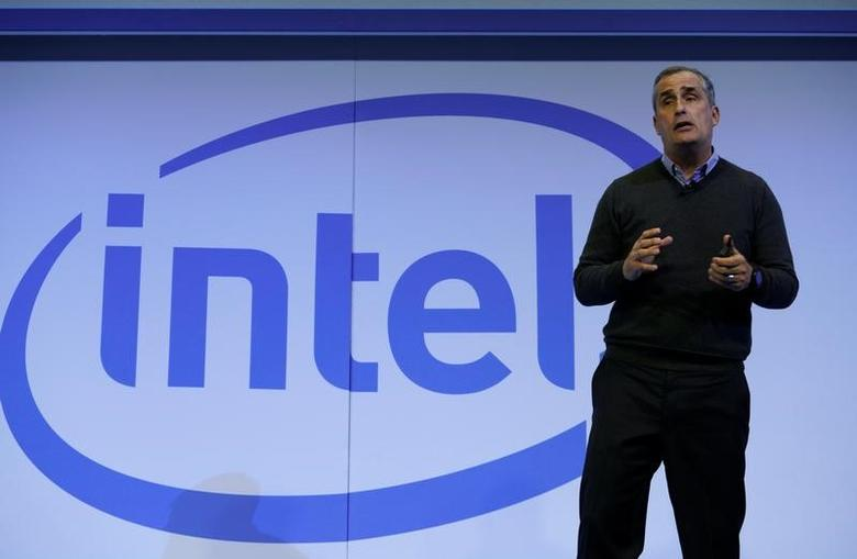 Brian Krzanich, Intel CEO, speaks during the Intel press conference at CES in Las Vegas, January 4, 2017.  REUTERS/Rick Wilking