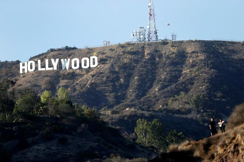 A view of the Hollywood sign from Bronson Canyon park in Hollywood, California February 21, 2014. REUTERS/Mario Anzuoni/Files
