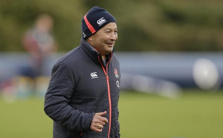 Britain Rugby Union - England Training - Pennyhill Park, Bagshot, Surrey - 7/2/17 England head coach Eddie Jones during training Action Images via Reuters / Henry Browne Livepic