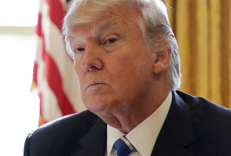 U.S. President Donald Trump  in Washington, U.S., February 8, 2017.      REUTERS/Joshua Roberts