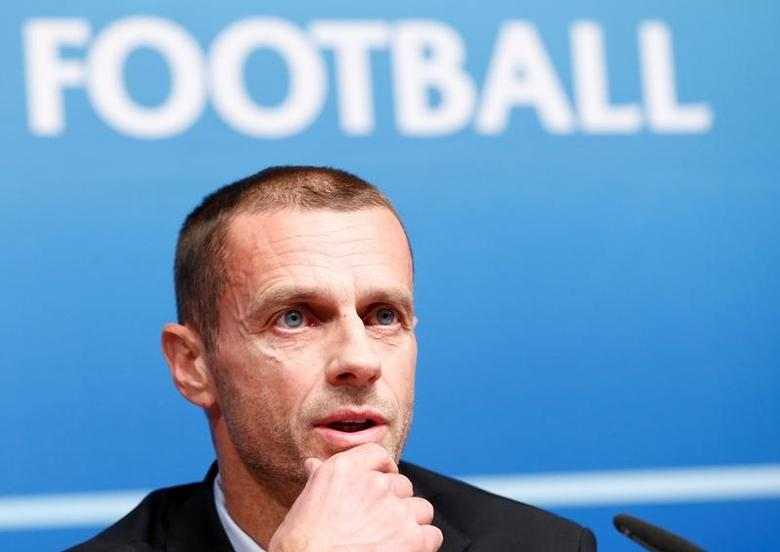 UEFA President Aleksander Ceferin attends a news conference after an Executive Board meeting in Nyon, Switzerland, December 9, 2016. REUTERS/Denis Balibouse