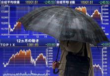 La Bourse de Tokyo a fini en hausse de 2,49% vendredi. L'indice Nikkei a gagné 471,26 points à 19.378,93. /Photo d'archives/REUTERS/Yuya Shino