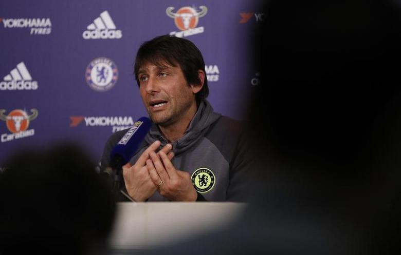 Britain Football Soccer - Chelsea - Antonio Conte Press Conference - Chelsea Training Ground - 10/2/17 Chelsea manager Antonio Conte during the press conference Action Images via Reuters / John Sibley Livepic