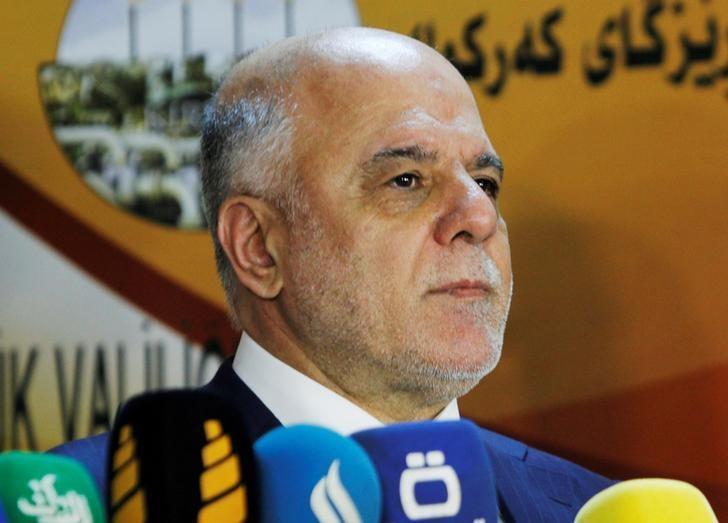 Iraqi Prime Minister Haider al-Abadi attends a news conference in Kirkuk, Iraq, October 14, 2016. REUTERS/Ako Rasheed/File Photo